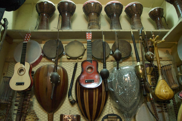 Zdjęcia Instrumentów Muzycznych w Marrakeszu