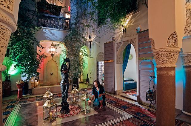 Zdjęcie patio Riad Dar Eliane w Marrakeszu