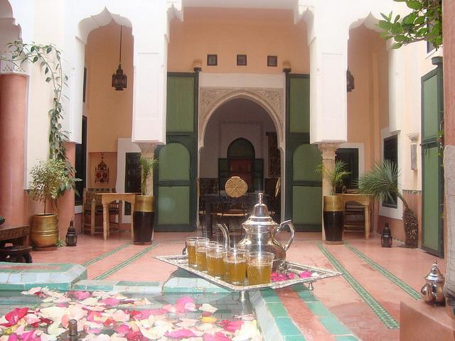 Zdjęcie patio Riad Ihssane w Marrakeszu