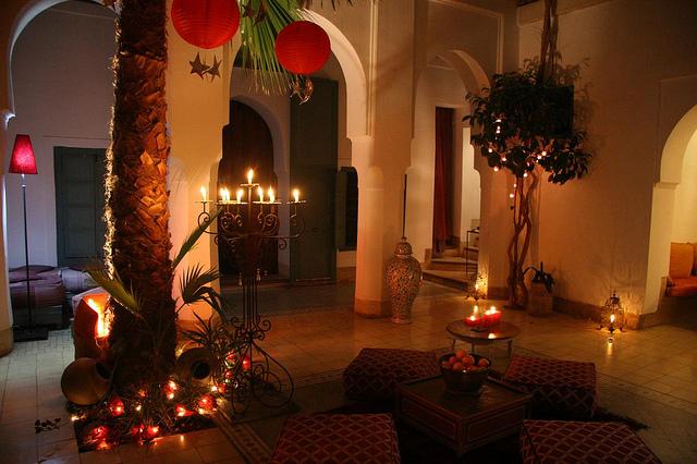 Zdjęcie patio Riad Dar Malak w Marrakeszu