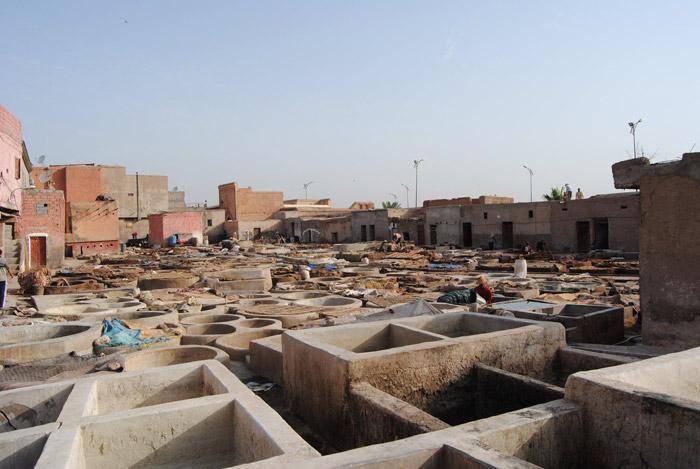 Zdjęcie z garbarni w Marrakeszu Bab Debagh