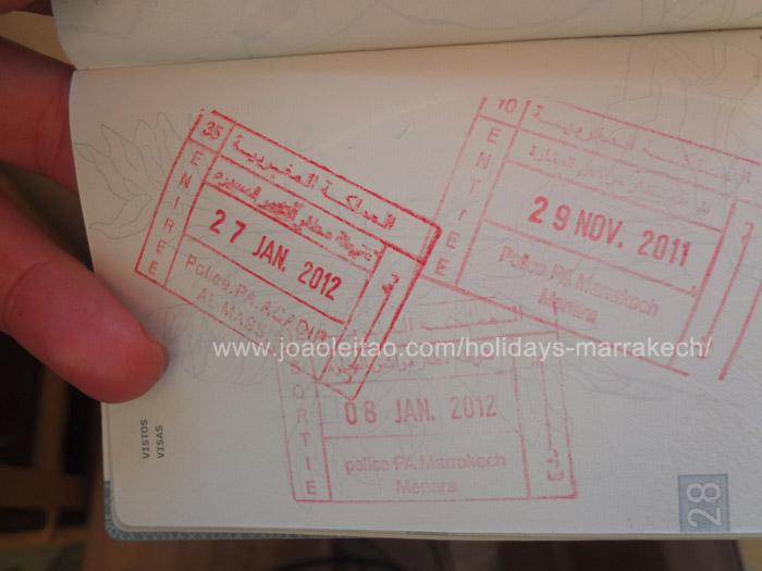 Zdjęcie marokańskiego stępla wjazdowego w paszporcie - Maroko wiza