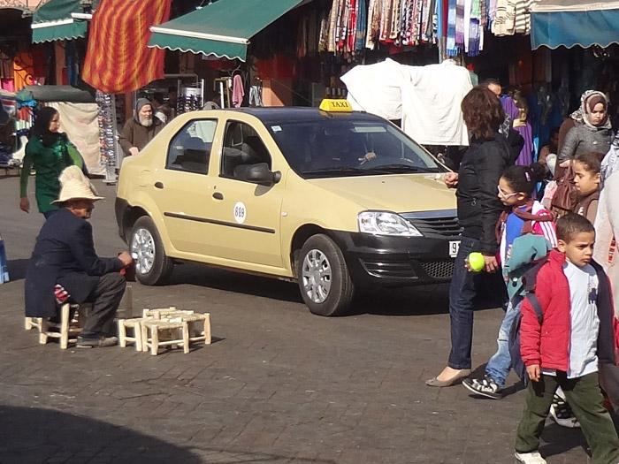 Petit taxi w Marrakeszu