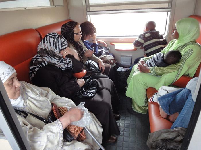 Zdjęcie pociągu 2 klasy z Casablanki do Marrakeszu