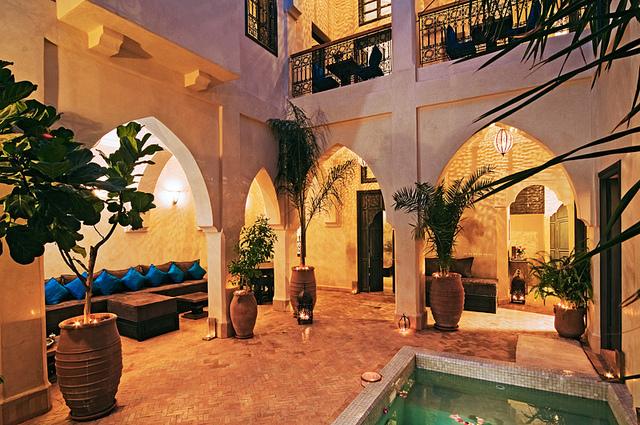 Zdjęcie patio Riad Cinnamon w Marrakeszu