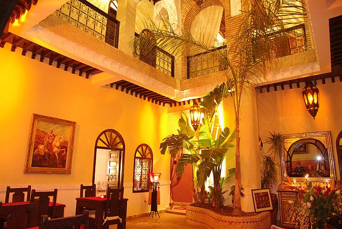 Zdjęcie patio Riad Jona w Marrakeszu