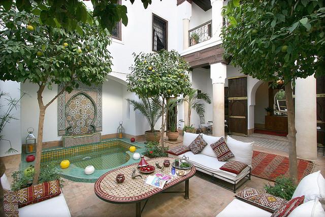 Zdjęcie patio Riad Karmela w Marrakeszu
