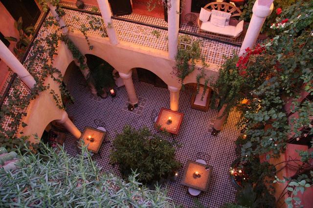 Zdjęcie patio Riad Merstane w Marrakeszu