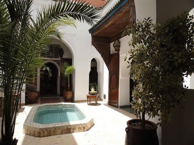 Zdjęcie patio Riad Nora w Marrakeszu