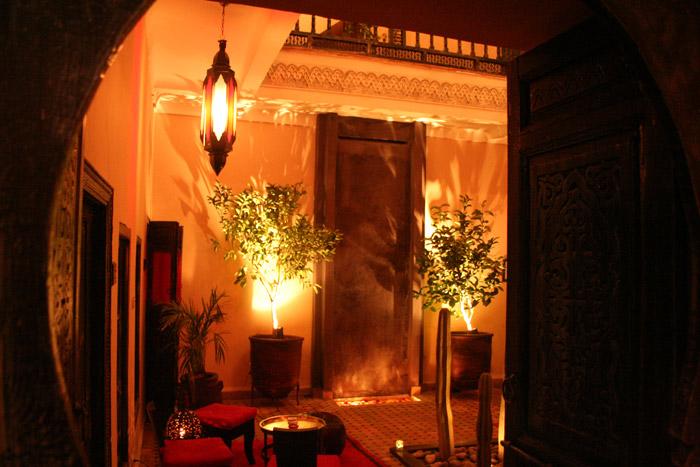 Zdjęcie patio w Riad Paula w Marrakeszu