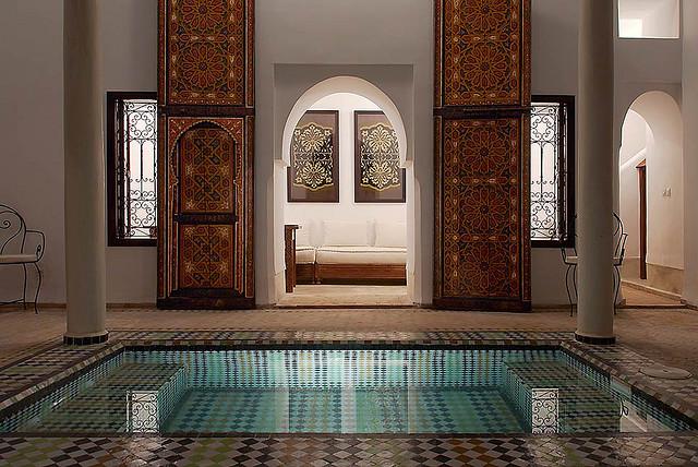 Zdjęcie patio Riad Porte Royale w Marrakeszu
