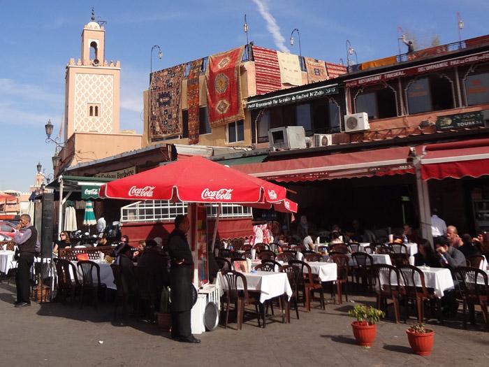 Zdjęcie Jemaa al Fna kawiarnia ze śniadaniem w Marrakeszu