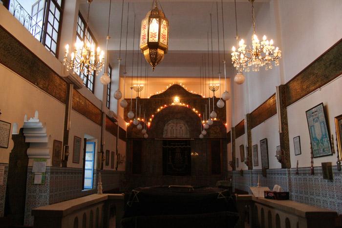 Zdjęcie żydowskiej synagogi Lazama w Marrakeszu